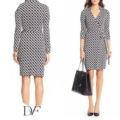 Diane Von Furstenberg And Dvf Dress Wrap New Julian Two Matte Jersey Medium Chain Link Rap One