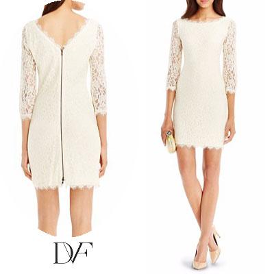 0aa4442fd5 Diane von Furstenberg DVF dress lace Zarita Lace Dress (Ivory) gown (ivory) DIANE  von FURSTENBERG new party dress brand vamp fashion