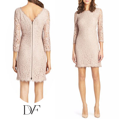 Diane Von Furstenberg Dvf Dress Lace Zarita Gown Beige New Party Brand Vamp Fashion