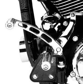 Harley Davidson Harley Davidson 方坯風格轉向拉杆 Harley Davidson 方坯風格轉向拉杆-鉻 Harley Davidson 真正真正美國購買美國進口從存儲區