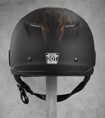 Harley-Davidson Harley Davidson半安全帽Harley-Davidson Men's Shields Avenue Sun Shield H02 Half Helmet墊子黑色新作品哈雷純正正規的物品美國購置USA直接進口郵購
