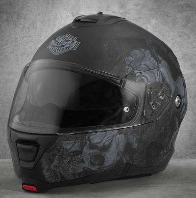 Harley-Davidson Harley Davidson安全帽Men's Intrepid Sun Shield H24 Modular Helmet黑色新作品哈雷純正正規的物品美國購置USA直接進口郵購
