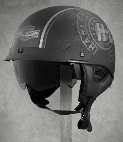 Harley-Davidson Harley Davidson半安全帽Wilcox Ultra-Light Sun Shield J03 Half Helmet黑色新作品哈雷純正正規的物品美國購置USA直接進口郵購
