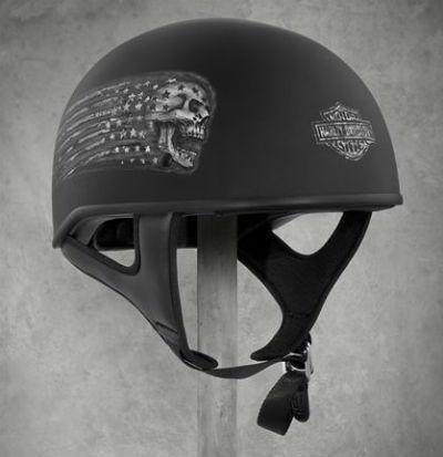 Harley-Davidson Harley Davidson半安全帽Laxity Low Profile J01 Half Helmet墊子黑色新作品哈雷純正正規的物品美國購置USA直接進口郵購