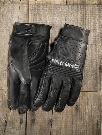 Harley-Davidson Harley Davidson手套Men's Discord Perforated Leather Gloves新作品哈雷純正正規的物品美國購置USA直接進口郵購