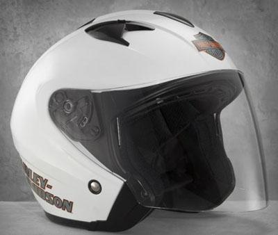 Harley Davidson Harley Davidson 頭盔 Harley Davidson 男人有遠見 3/4 頭盔白色新哈雷股票真正美國購買美國進口從存儲區