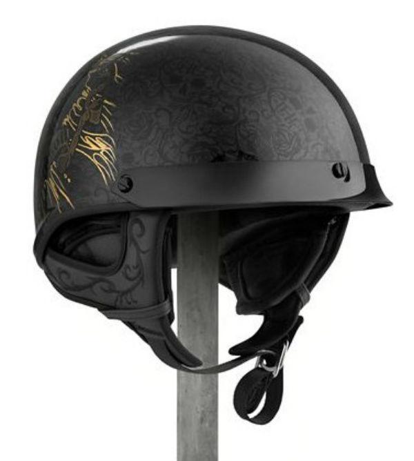 ハーレーダビッドソン Harley Davidsonハーフ ヘルメットMen's Midnight J02 Half Helmet グロスブラック新作 ハーレー純正 正規品 アメリカ買付 USA直輸入 通販