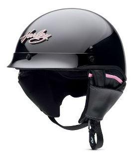 할리 데이비슨 Harley Davidson 여성용 하프 헬멧 Harley-Davidson Women 's Pink Label Bling Hybrid Ultra-Light Half Helmet 글로스 블랙 할리 순정 정품 미국 구매 USA 직 수입 쇼핑몰