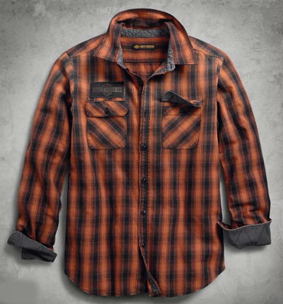 ハーレーダビッドソン Harley Davidsonメンズ ロングスリーブシャツMen's Oak Leaf Plaid Plaid Slim Fit Shirtハーレー純正 正規品 アメリカ買付 USA直輸入 通販