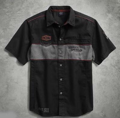 ハーレーダビッドソンメンズ ショートスリーブ シャツHarley Davidson Men's Iron Block Shirtハーレー純正 正規品 アメリカ買付 USA直輸入 通販