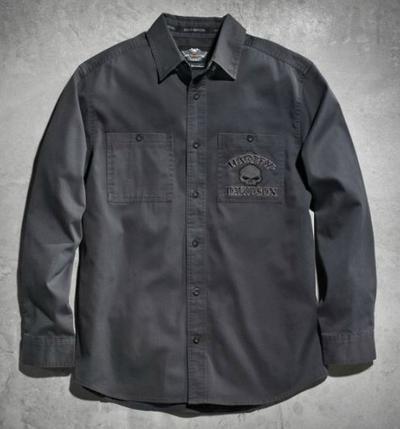 ハーレーダビッドソン Harley Davidsonメンズ ロングスリーブシャツHarley-Davidson Men's Skull Long Sleeve Shirtハーレー純正 正規品 アメリカ買付 USA直輸入 通販
