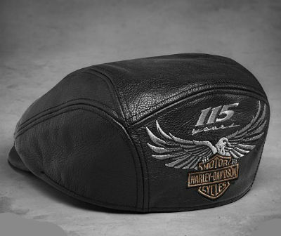 Harley-Davidson Harley Davidson baseball cap Men s 115th Anniversary Leather  Ivy Cap ☆ Harley chastity regular article United States buying USA direct  ... f67e2e02874