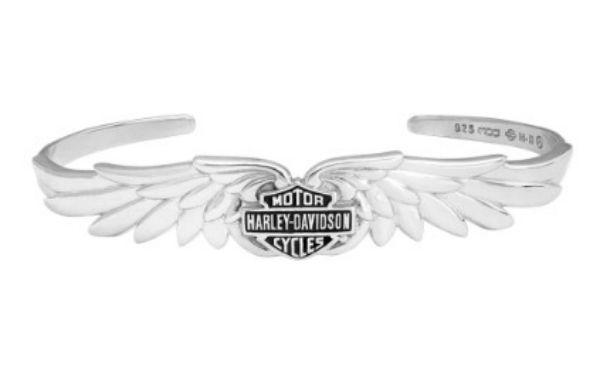 ハーレーダビッドソン Harley Davidsonブレスレットレディース クラシック ダブルウイング B&S ブレスレットWomen's 925 Silver Classic Double Wing B&S Cuff Braceletハーレー純正 正規品 アメリカ買付 USA直輸入 通販