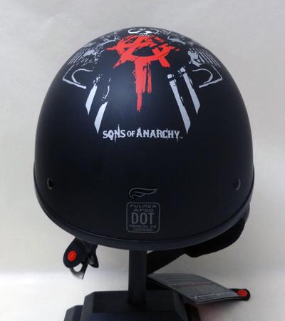聖的無政府狀態的無政府狀態收集器頭盔 AF90 SOA 收割者大小 S 啞光黑 ★ 兒子真正美國購買美國進口從存儲區