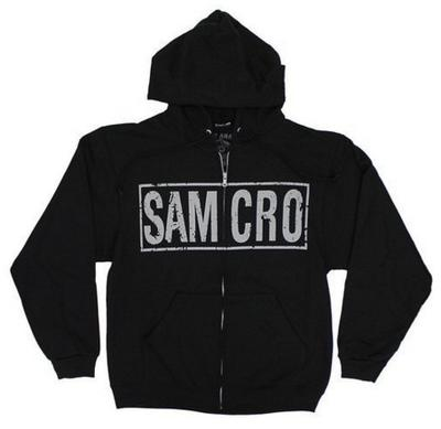 Officially Licensed Sons Of Anarchy SOA Reaper Zipped Hoodie S-XXL Sizes
