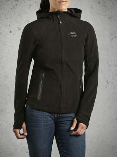 하레이다빗드손 Harley Davidson 레이디스 후 데 Women's Waterproof Fleece Jacket 할레-순정 정규품 미국 구매 USA 직수입 통판