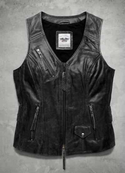 ハーレーダビッドソン Harley Davidsonレディース レザー ベストHarley-Davidson Women's Dust Rider Leather Vest 新作 ハーレー純正 正規品 アメリカ買付 USA直輸入 通販