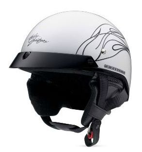 Harley-Davidson Harley Davidson女士半安全帽Harley-Davidson Women's Destination Half Helmet珍珠白哈雷純正正規的物品美國購置USA直接進口郵購