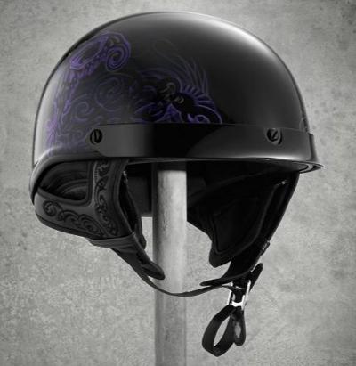 ハーレーダビッドソン Harley Davidsonレディース ハーフ ヘルメットWomen's Fly-By Ultra-Light J02 Half Helmet ブラックハーレー純正 正規品 アメリカ買付 USA直輸入 通販