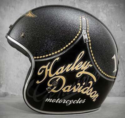Harley Davidson Harley Davidson 女士頭盔 Harley Davidson 婦女坦塔羅斯復古 3/4 頭盔光澤黑色 Harley Davidson 股票真正美國購買美國進口從存儲區