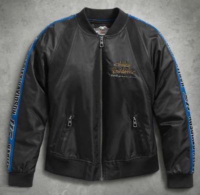 ハーレーダビッドソン Harley Davidsonレディース ジャケットWomen's 115th Anniversary Bomber Jacketハーレー純正 正規品 アメリカ買付 USA直輸入 通販