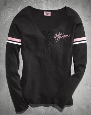 ハーレーダビッドソン Harley Davidsonレディース ロングスリーブHarley-Davidson Women's Pink Label Performance Knit Top★ 新作 ハーレー純正 正規品 アメリカ買付 USA直輸入 通販
