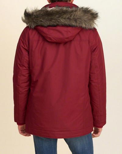霍利斯特霍利斯特男裝夾克外套連帽冬季外套霍利斯特沿海小道大衣紅色霍利斯特冬季新真正購買美國來自美國。