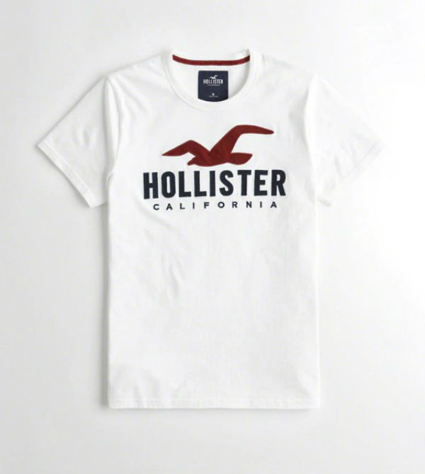 e6344a8b2 Hollister Hori star men T-shirt Logo Graphic Tee white American casual  American T- ...