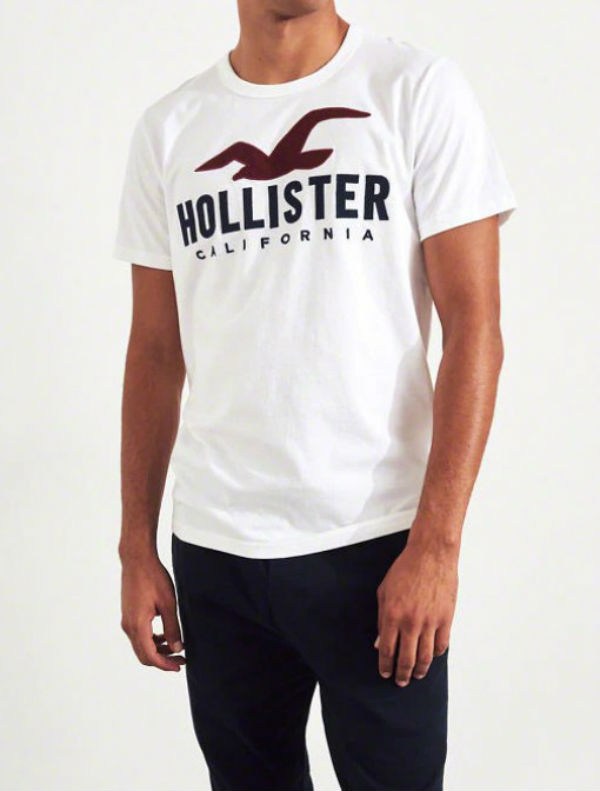 5f821d112d7e ... Hollister Hori star men T-shirt Logo Graphic Tee white American casual  American T- ...