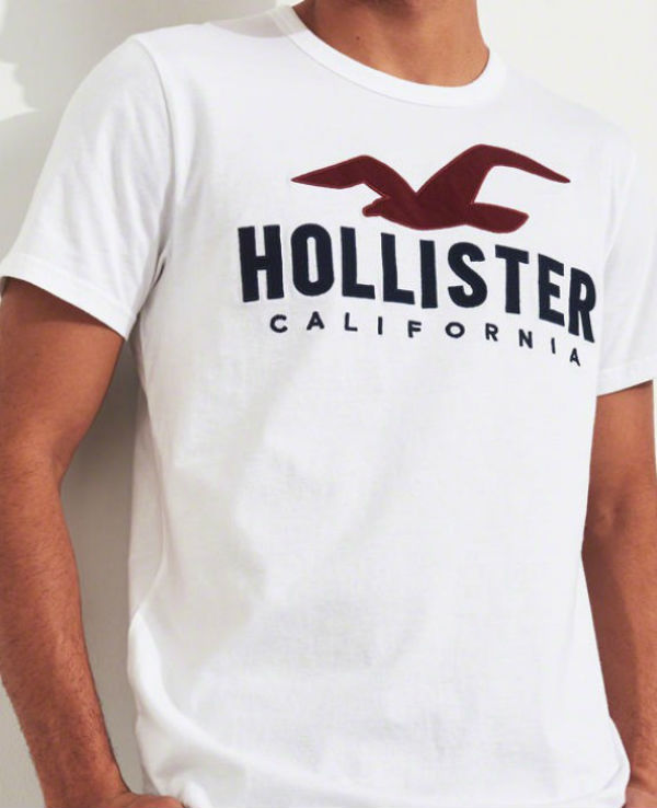 4943a3f5fe60 ... Hollister Hori star men T-shirt Logo Graphic Tee white American casual  American T-