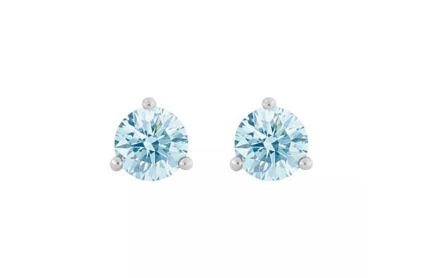 デビアス De Beers ジュエリー ライトボックス LightboxSolitaire Lab-Grown Diamond Stud Earrings ブルー/ホワイトラブダイヤモンド(約0.25ct)CVDダイヤモンド 合成ダイヤモンド ラボダイヤモンド アメリカ買付 USA直輸入