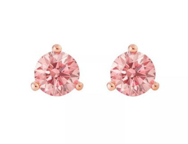 デビアス De Beers ジュエリー ライトボックス LightboxSolitaire Lab-Grown Diamond Stud Earrings ピンク/ホワイトラブダイヤモンド(約0.25ct)CVDダイヤモンド 合成ダイヤモンド ラボダイヤモンド アメリカ買付 USA直輸入
