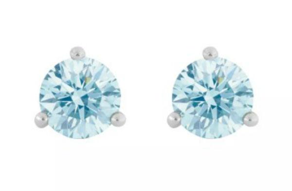デビアス De Beers ジュエリー ライトボックス LightboxSolitaire Lab-Grown Diamond Stud Earrings ブルー/ホワイトラブダイヤモンド(約0.50ct)CVDダイヤモンド 合成ダイヤモンド ラボダイヤモンド アメリカ買付 USA直輸入