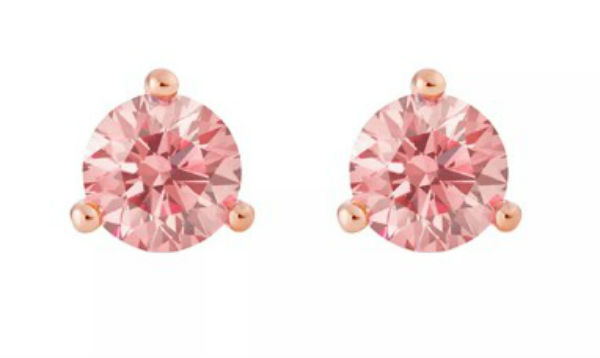 デビアス De Beers ジュエリー ライトボックス LightboxSolitaire Lab-Grown Diamond Stud Earrings ピンクラブダイヤモンド(約0.50ct)CVDダイヤモンド 合成ダイヤモンド ラボダイヤモンド アメリカ買付 USA直輸入