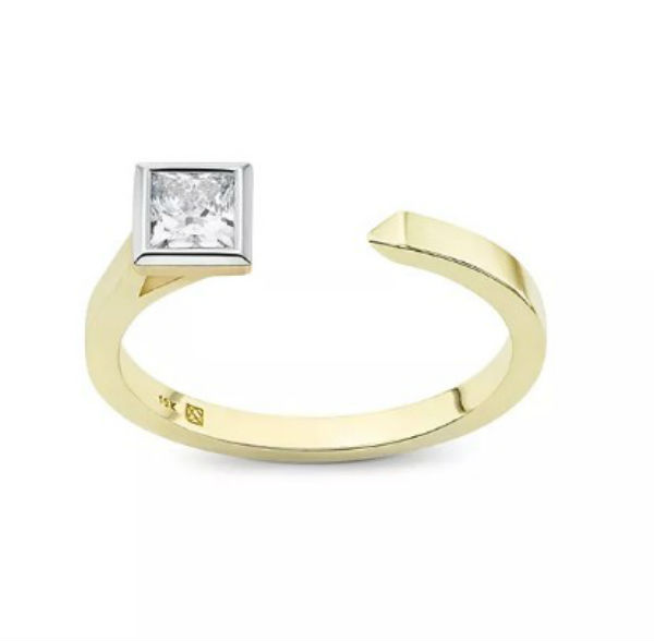 デビアス De Beers ジュエリー ライトボックス LightboxPrincess Open Top Lab-Grown Diamond Ring ホワイト/ゴールドラブダイヤモンド(約0.375ct)デビアス CVDダイヤモンド 合成ダイヤモンド ラボダイヤモンド アメリカ買付 USA直輸入