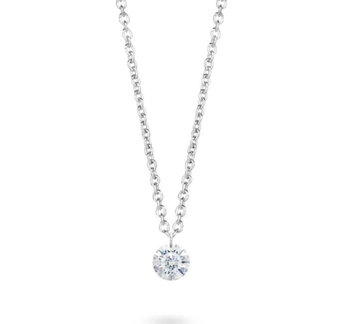 デビアス De Beers ジュエリー ライトボックス LightboxPierced Pendant in White ラブダイヤモンド(約0.5ct)CVDダイヤモンド 合成ダイヤモンド ラボダイヤモンド アメリカ買付 USA直輸入