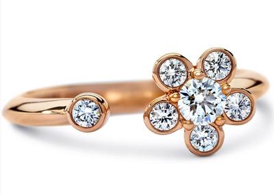 ディアマ DIAMAブルーム リング BLOOM RING (0.30ct tw)SWAROVSKI スワロフスキークリエイティブダイヤモンド使用 18金ローズゴールド製