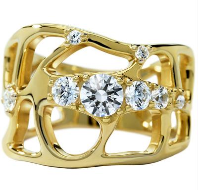 ディアマ DIAMAレース リング LACE RING (0.62ct tw)SWAROVSKI スワロフスキークリエイティブダイヤモンド使用 18金イエローゴールド製