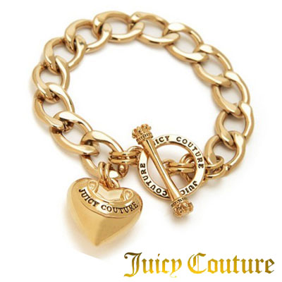 Juicy Couture Bracelet Banner Heart Starter Gold Pave New An Acquired American Purchase