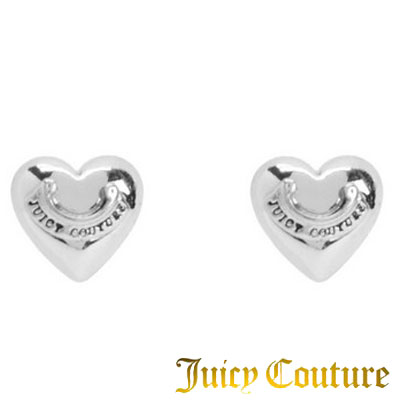 Juicy Couture Earrings Puffed Heart Stud Earring Silver Arrowhead New An United States Purchase Usa Import