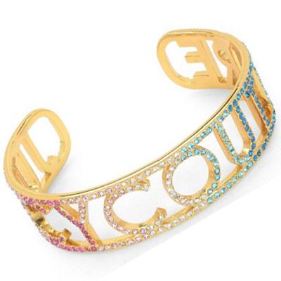 ジューシークチュール Juicy Couture ブレスレット/バングルJUICY RAINBOW BANGLE BRACELET(Gold) JUICY レインボー バングル(ゴールド) ギフト プレゼント レディースアクセサリー 新作 日本未入荷 アメリカ買付