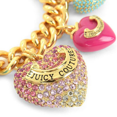 Juicy Couture Bracelet Heart Color Me In Charm Gold United States New An Women S