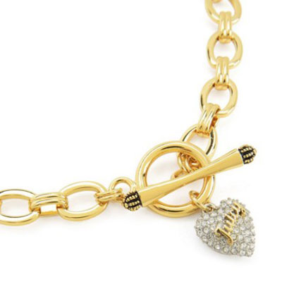 Witusa rakuten global market juicy couture juicy couture womens juicy couture juicy couture womens heart necklace pave heart starter necklace gold united states new japan juicy pav heart chain necklace gold womens aloadofball Gallery