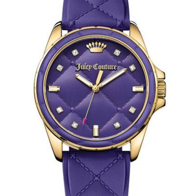 ジューシークチュール JUICY COUTURE 腕時計MALIBU, 40mm(Purple) マリブ キルトシリコン腕時計(パープル) 新作腕時計 レディースアクセサリー 正規品 日本未入荷 アメリカ買付 USA直輸入