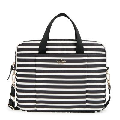 Kate spade Kate Spade 2 laptop case CLASSIC NYLON STRIPE COMMUTER LAPTOP BAG  (black cream) nylon stripe shoulder strap laptop bag 13 inch (black cream)  new ... e3d6088ec