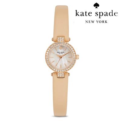 ケイトスペードKateSpade腕時計MetroPAVETinyMetroWatch,20mm(Vachetta)ペイブタイニーメトロ腕時計(バチェッタ)●新作正規品アメリカ買付レディースレザーストラップ時計