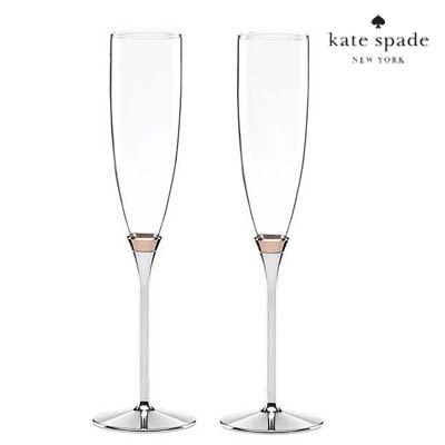 ケイトスペード シャンペングラス セット rosy glow toasting flute pair Kate Spade rosy glow toasting flute pair 新作 正規品 アメリカ買付 ウェディングギフト