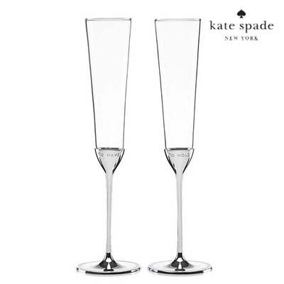 ケイトスペード シャンペングラス セット take the cake toasting flute pairkate spade Take the Cake Toasting Flute, Set of 2 新作 正規品 アメリカ買付 ウェディングギフト