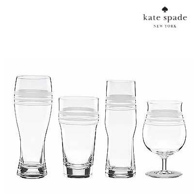 ケイトスペード Kate Spade ビールグラス セット'library stripe' mixed beer glasses (Set of 4) ストライプ ミックス ビールグラス 新作 正規品 アメリカ買付 ウェディングギフト