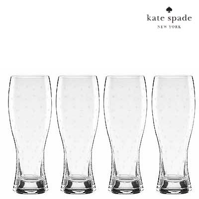 ケイトスペード ビールグラス セットLARABEE DOT wheat beer glassesララビードット ビールグラス 水玉 Kate Spade Larabee Dot Wheat Beer Glass, Set of 4 水玉 ドット 新作 正規品 アメリカ買付 ウェディングギフト